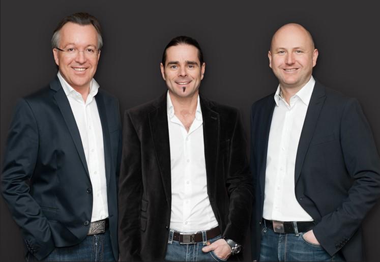 (v.l.n.r.) Arno Steinbacher, Andreas Heigl, Markus Rupprechter.  Geschäftsführer und Gesellschafter, die auch privat eine Jahrzehnte lange Freundschaft verbindet.
