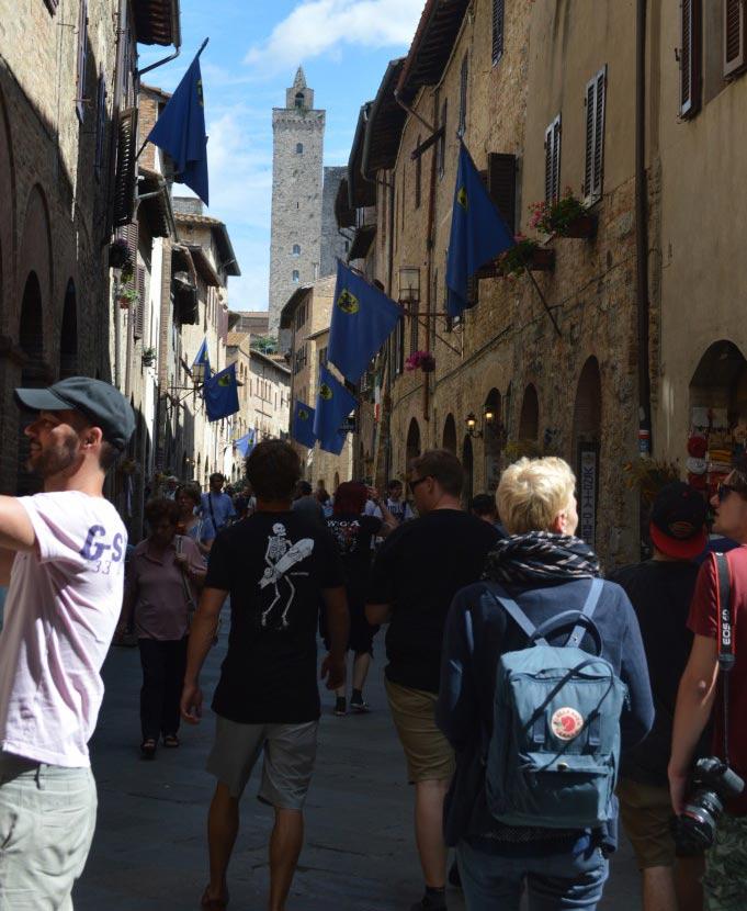 San Gimignano, mittelalterliche Architektur